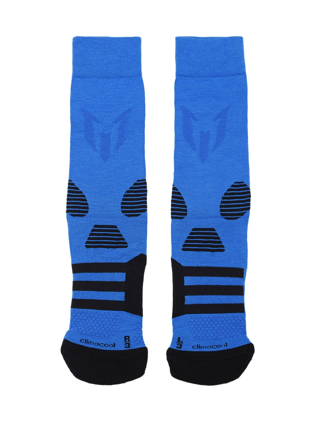 ADIDAS Unisex Blue MESSI Q3 Patterned Above Ankle Length Socks