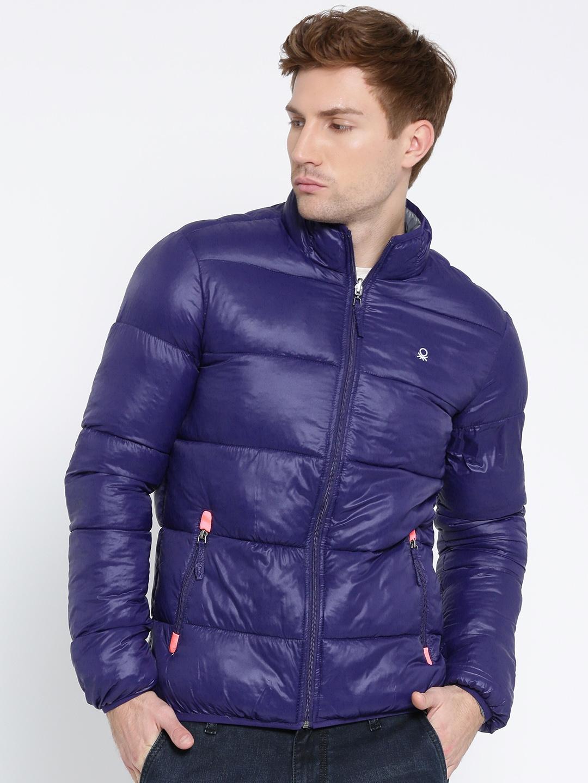 adee9dba9 Buy United Colors Of Benetton Grey   Blue Reversible Puffer Jacket ...