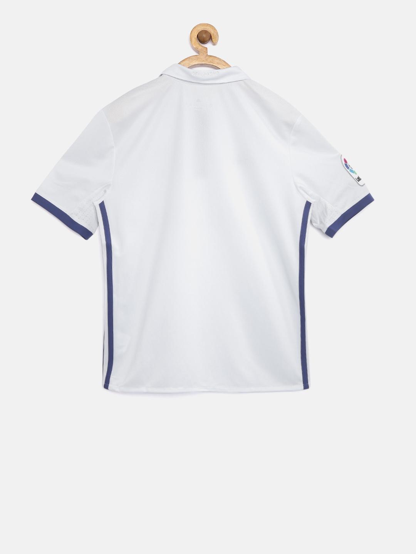 Buy ADIDAS Boys White Real Madrid F.C. Printed Polo Collar T Shirt ... 4c11817e8