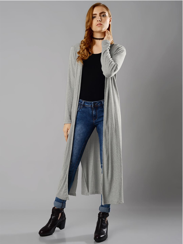 f7ff18950 Buy FabAlley Masaba Grey Longline Shrug - Shrug for Women 1670180   Myntra