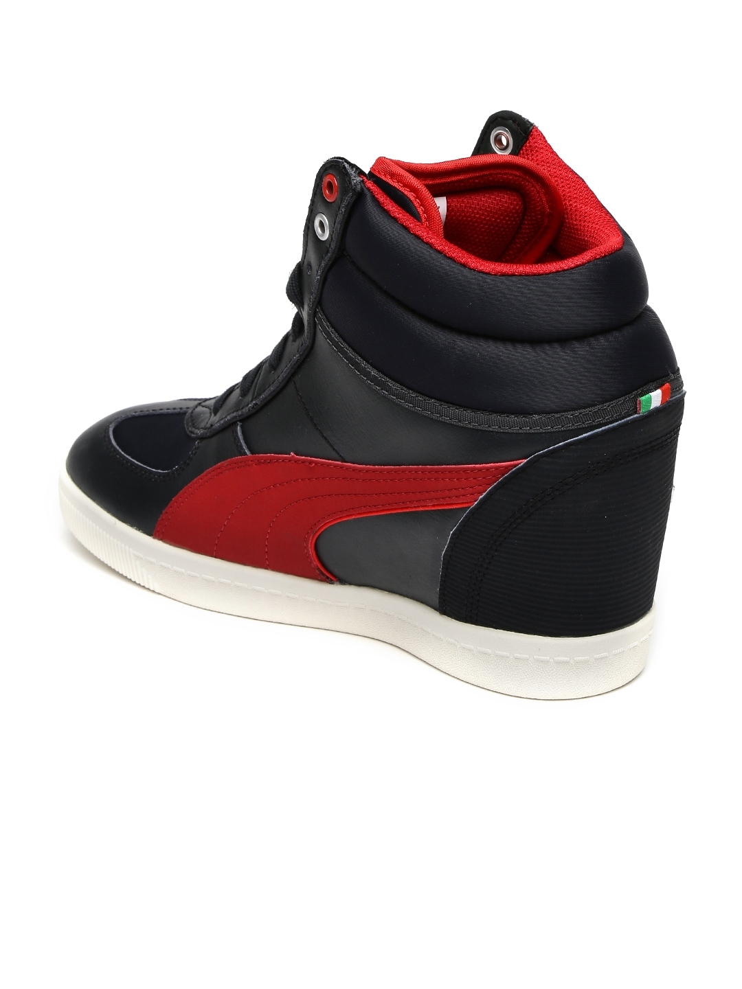 26fadd1cc68 Buy Puma Women Black   Red SF Wedge Selection Coloublocked Sneakers ...