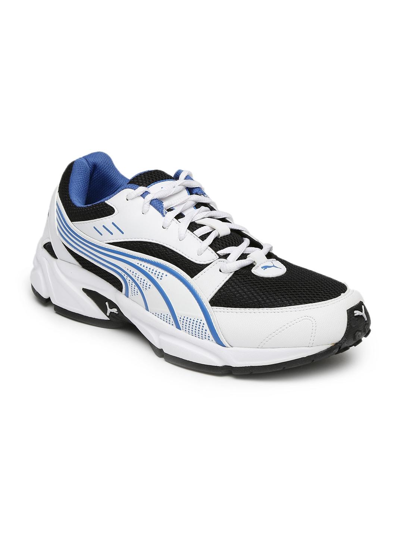 e0cd498c1f2164 Buy Puma Men White & Black Pluto DP Running Shoes - Sports Shoes for ...