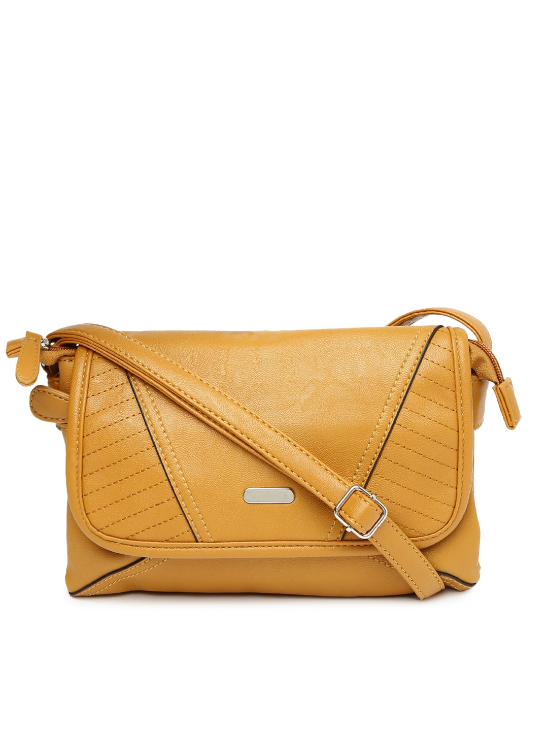 69b5383a371 Buy Lavie Yellow Sling Bag With Stitch Detail - Handbags for Women ...