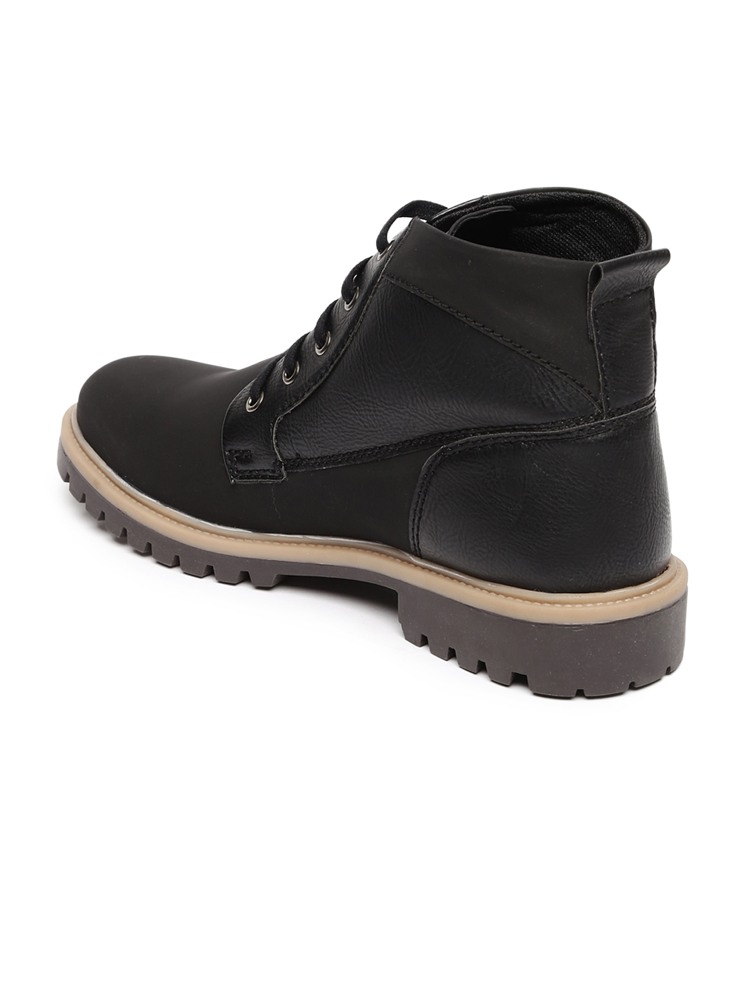 e5eef613a6a Buy Provogue Men Black Solid High Top Flat Boots - Casual Shoes for ...