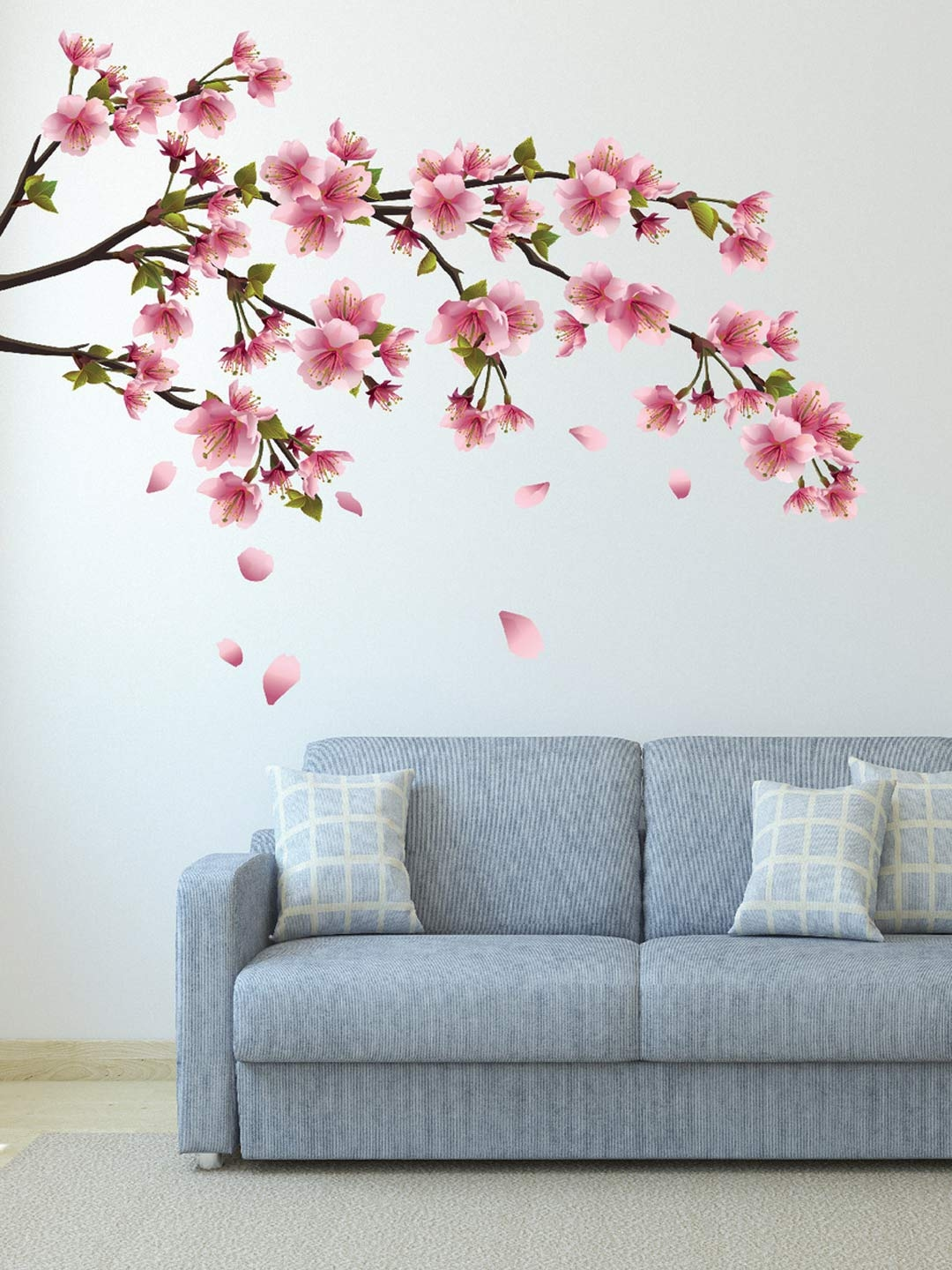 Wall decor buy wall decor online in india destudio multicoloured sakura blossom japanese cherry tree wall sticker amipublicfo Image collections