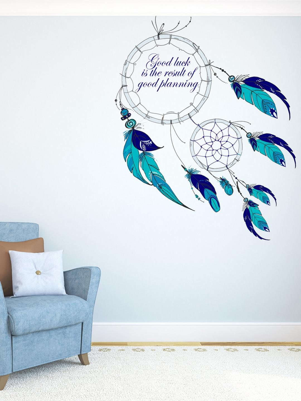 Buy Destudio Blue Good Luck Dreamcatcher Wall Sticker