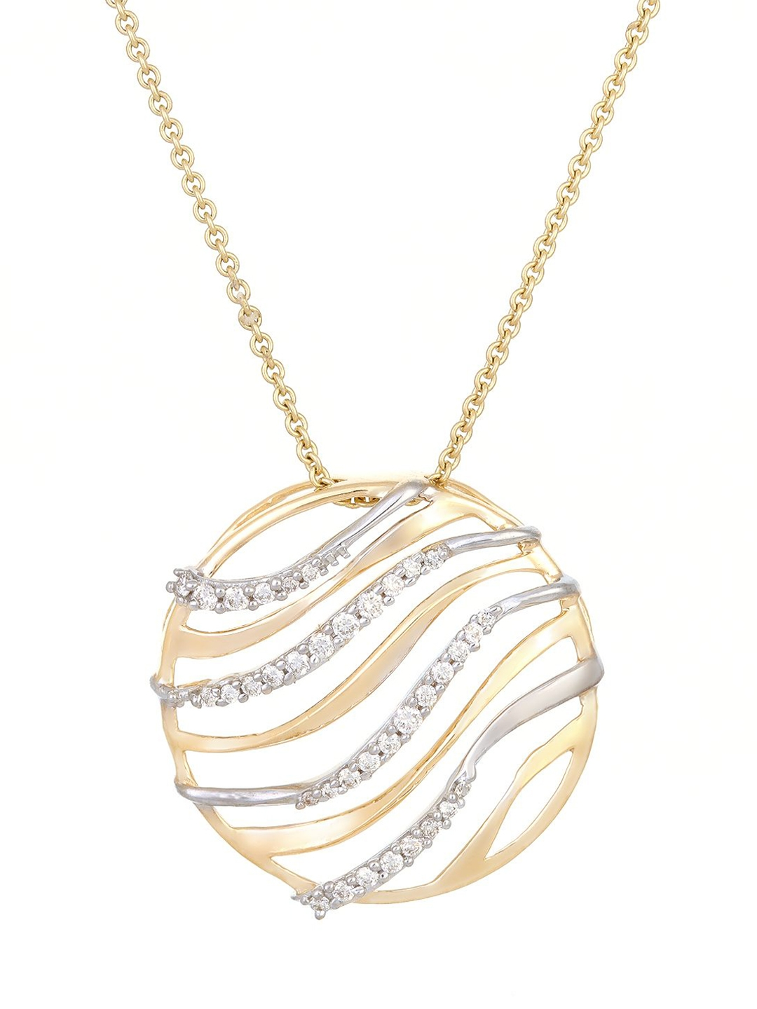 Mia by Tanishq 2.73 g 14KT Gold Pendant with Diamonds Mia by Tanishq Pendant Diamond