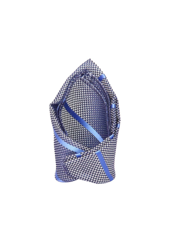ddec7b7da33a Buy Tossido Blue & White Patterned & Striped Pocket Square - Pocket ...