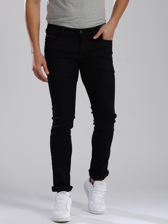 fa3182a9a5c294 Buy Tommy Hilfiger Men Navy Blue Skinny Fit Jeans - Jeans for Men ...