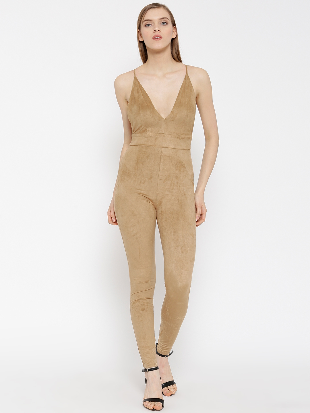 Beige Jumpsuit - Buy Beige Jumpsuit online in India