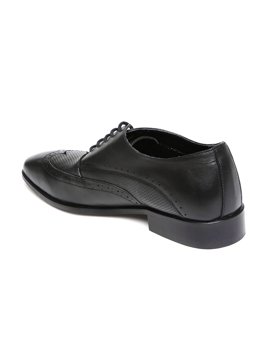 52b5edf3ff Buy Van Heusen Men Black Leather Formal Brogues - Formal Shoes for ...