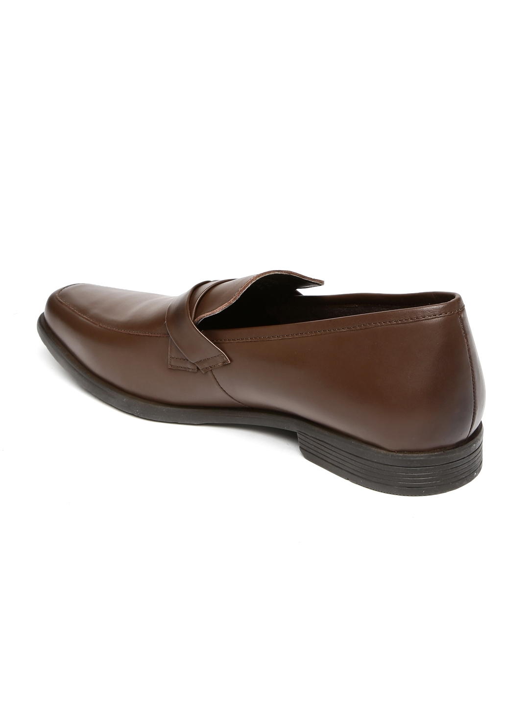 Buy Van Heusen Men Tan Brown Leather Formal Slip Ons - Formal Shoes ... f1d34e7af