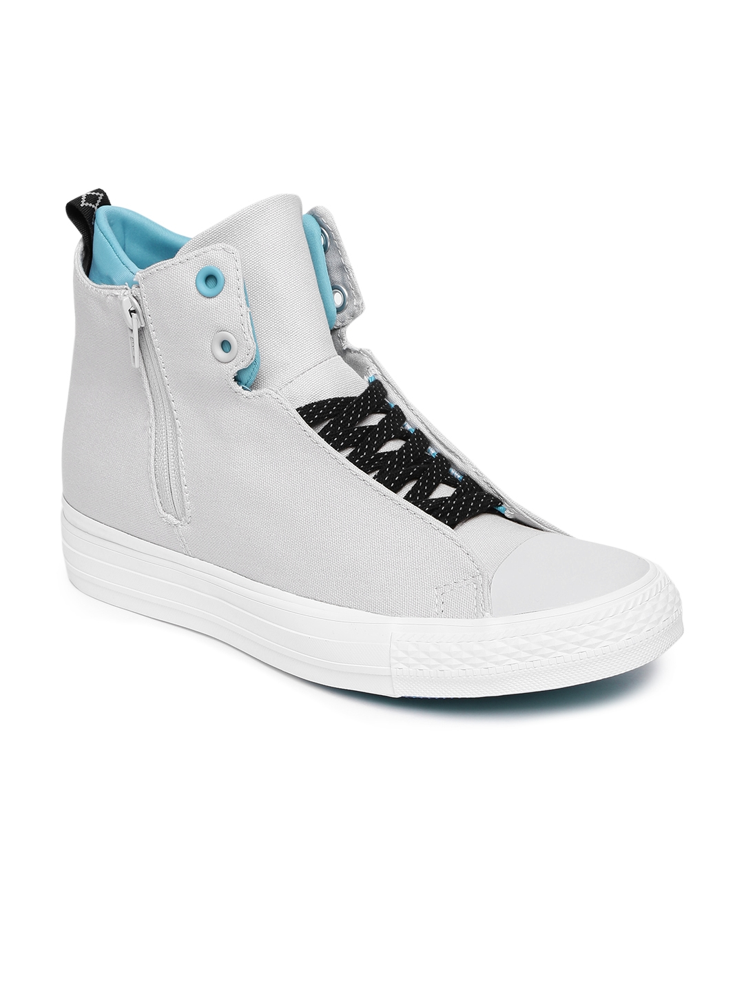 converse shoes all white. converse women off-white solid high-top sneakers shoes all white r