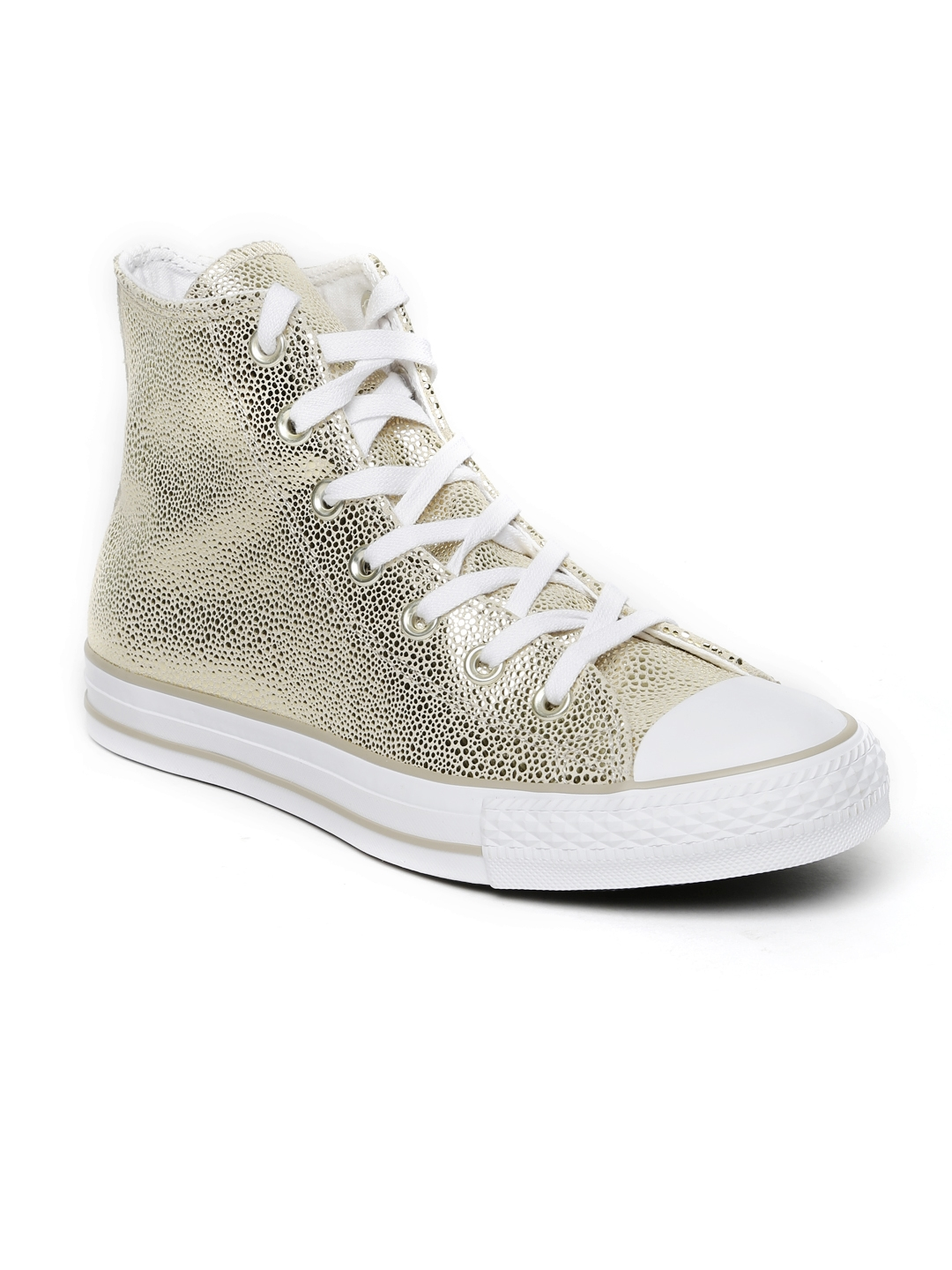 50ce38766bc8 Buy Converse Women Gold Toned Woven High Tops Sneakers - Casual ...