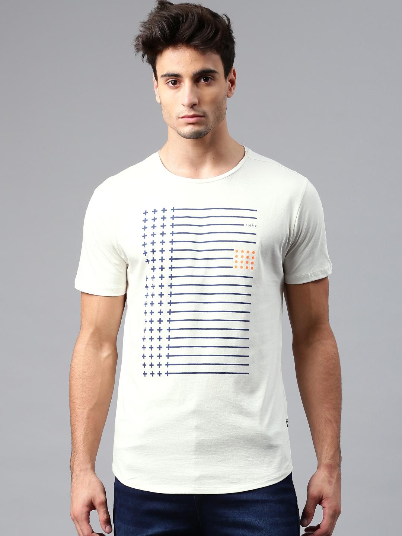 4788e40e Buy HRX By Hrithik Roshan Men Off White Printed T Shirt - Tshirts ...