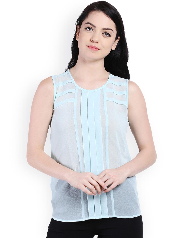 76b01d9481ecf Buy Style Quotient Women Blue Solid Top - Tops for Women 1702858 ...