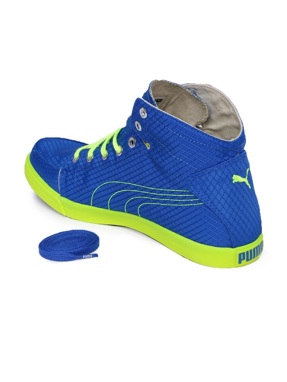 700a2a1a337 ... discount shop 58594 e66a8 PUMA Men Blue Neon Green Drongos DP Sneakers   usa cheap ...