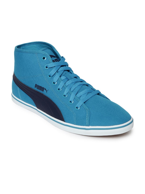 13696b1dac5 Buy PUMA Men Blue Elsu V2 Mid CV DP Casual Shoes - Casual Shoes for ...
