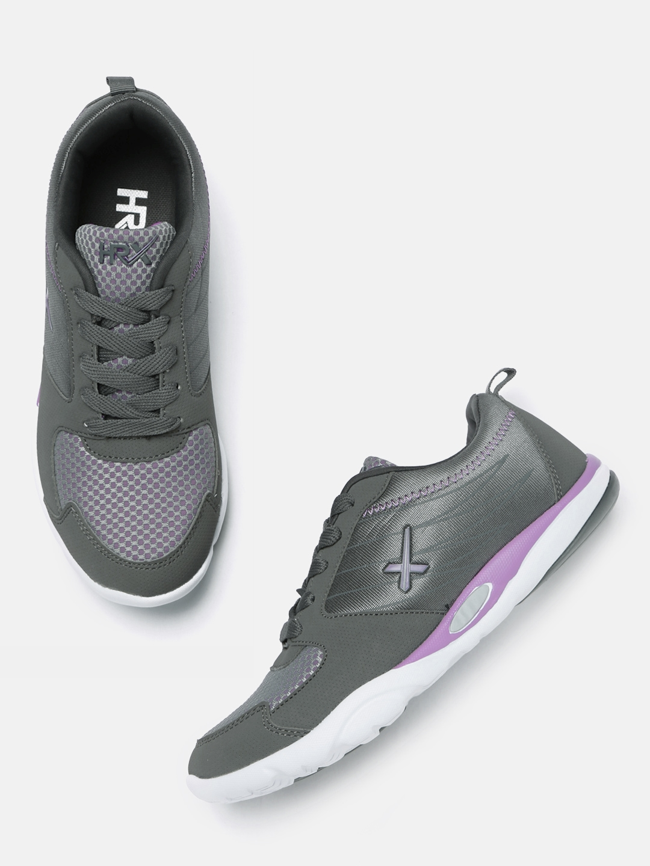df8461e8408 Buy HRX By Hrithik Roshan Women Grey Street Run Running Shoes ...