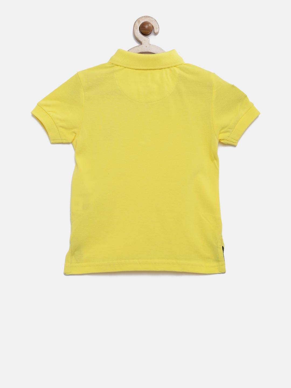 Buy Us Polo Assn Kids Boys Yellow Solid Polo T Shirt Tshirts