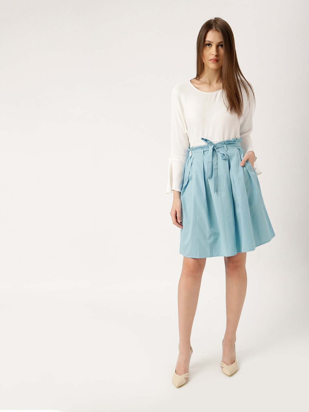 33847e688 Buy All About You From Deepika Padukone Blue A Line Pleated Skirt ...