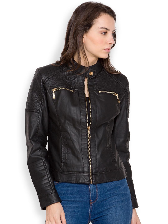 Buy The Indian Garage Co Black Biker Jacket Jackets For Women