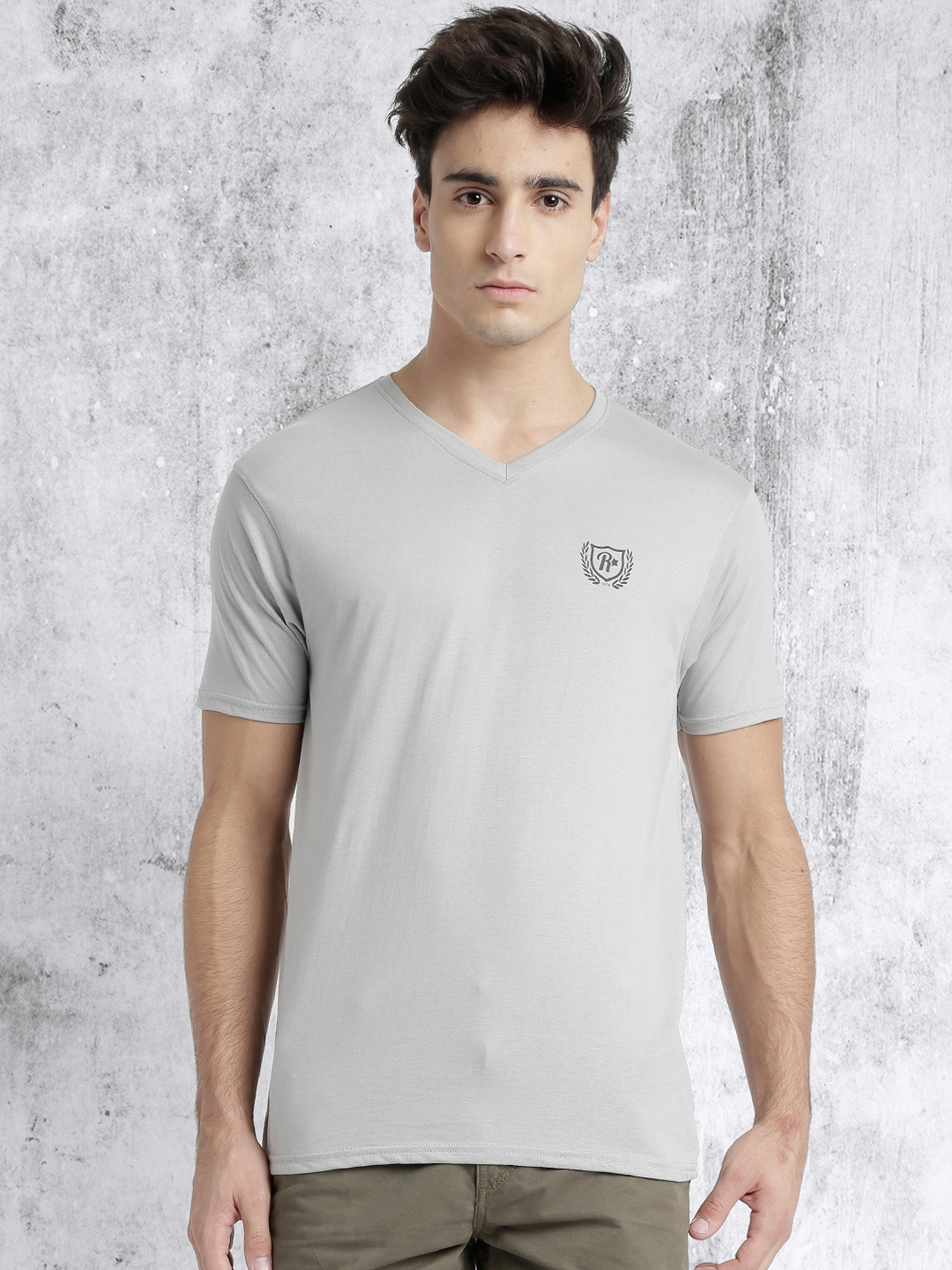 f009c046 Buy Roadster Pack Of 3 Solid Slim Fit V Neck T Shirts - Tshirts for ...