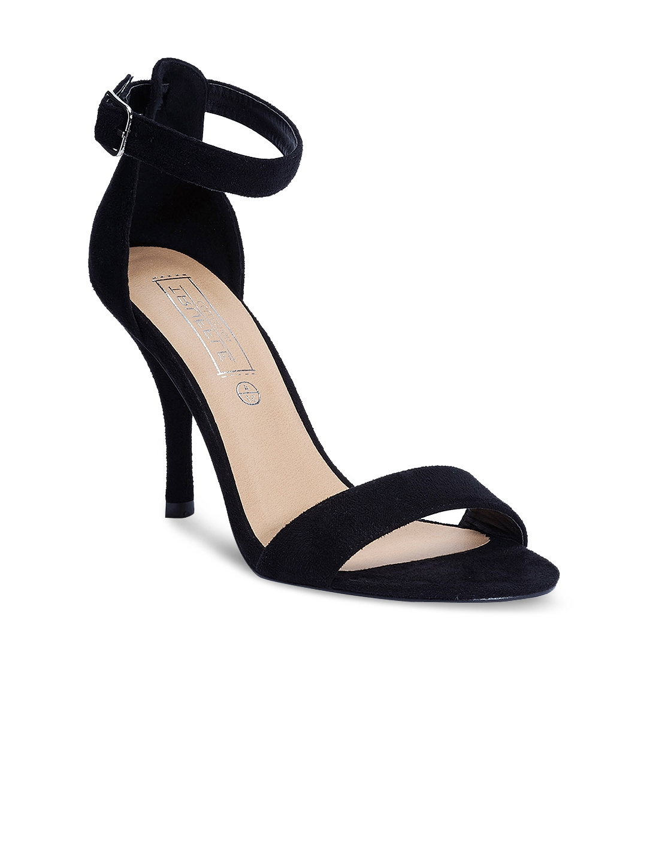 28ec1cbde40b Buy Truffle Collection Women Black Solid Heels - Heels for Women ...