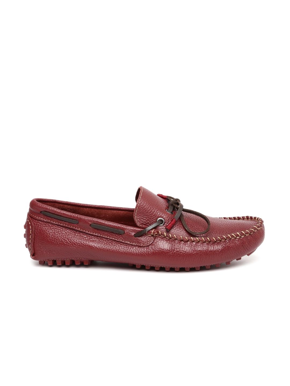 36d52e30ec9 Steve Madden Men Red BERGONNRED Leather Driving Shoes