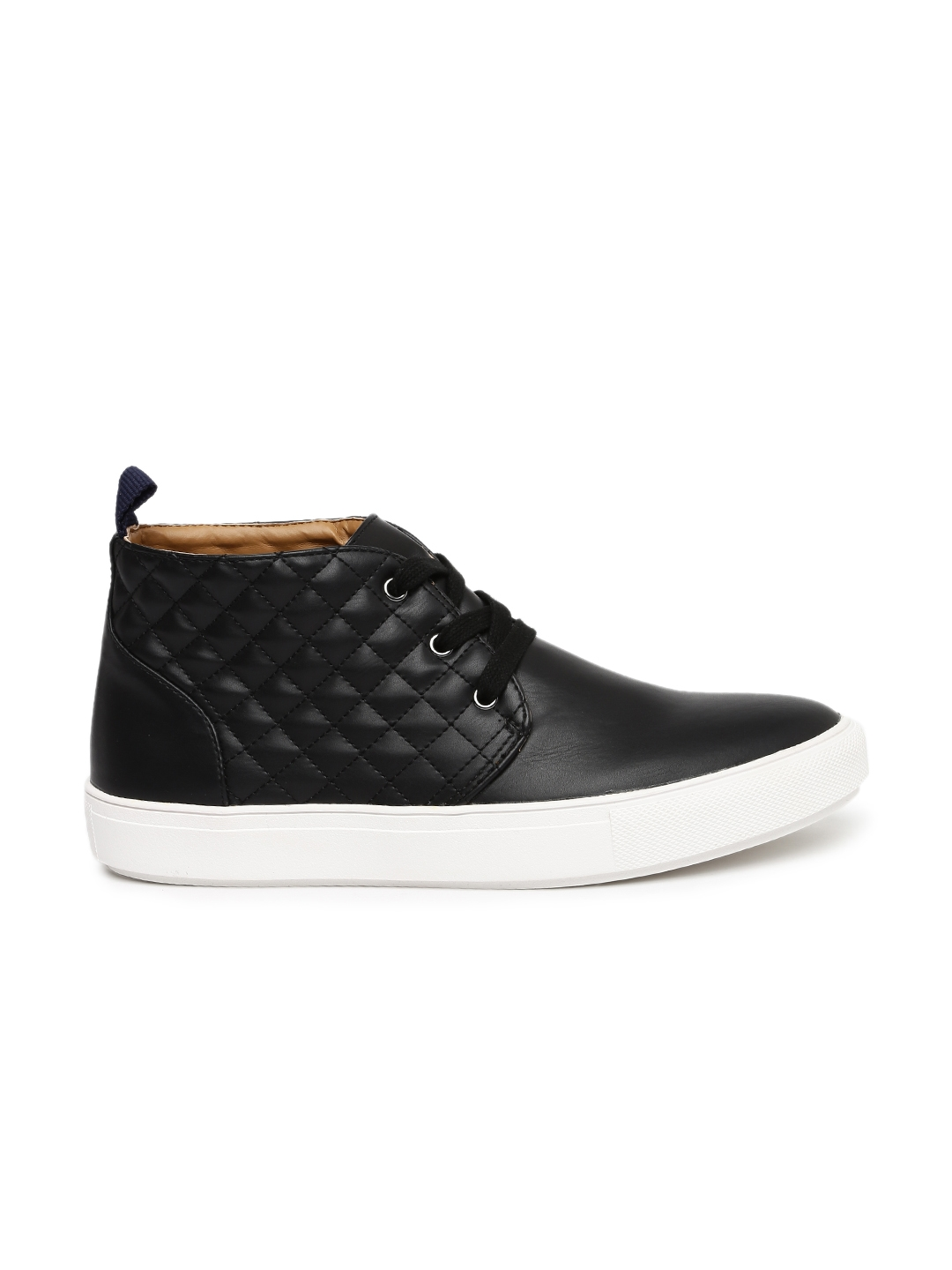 e98d3afa89b Buy Steve Madden Men Black Quilted Mid Top Sneakers - Casual Shoes ...