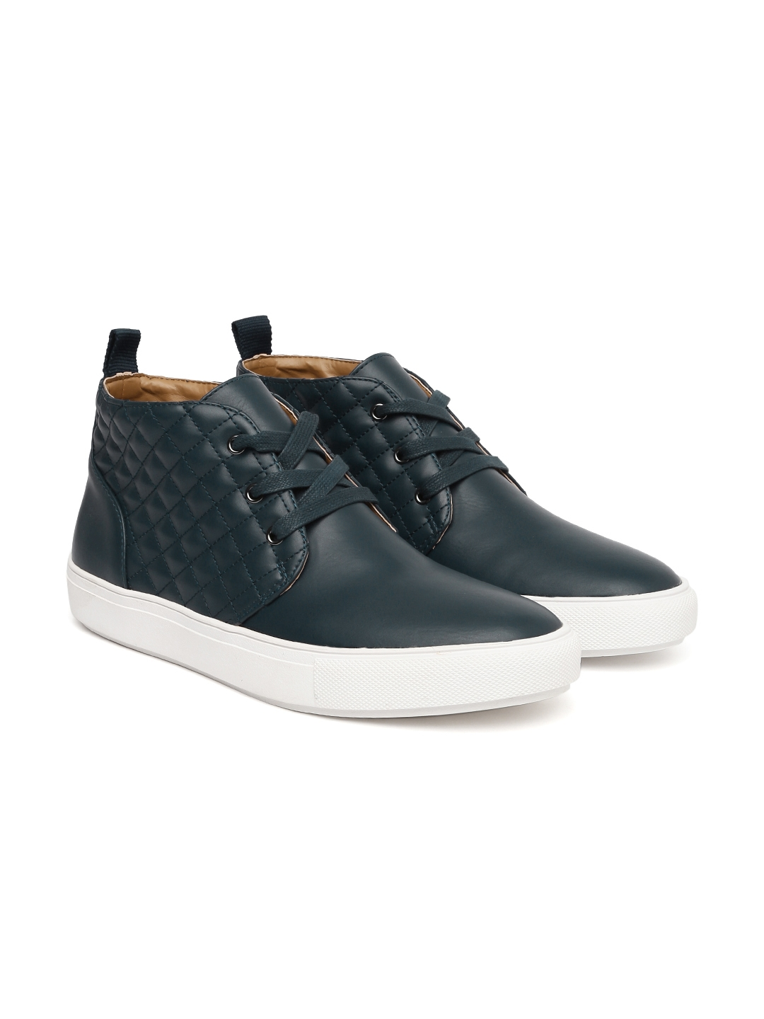40934da5c7b Buy Steve Madden Men Navy Blue Quilted Mid Top Sneakers - Casual ...