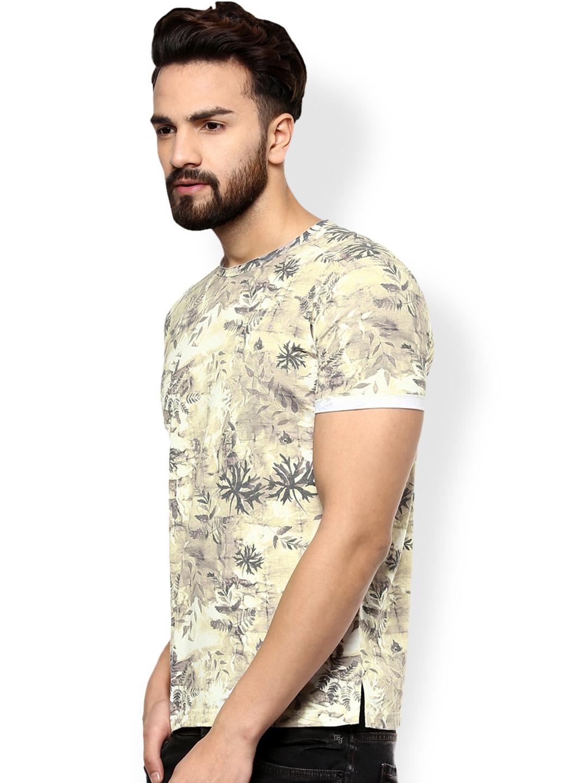 6eed0be1 Buy Mufti Men Khaki Printed T Shirt - Tshirts for Men 1718154   Myntra
