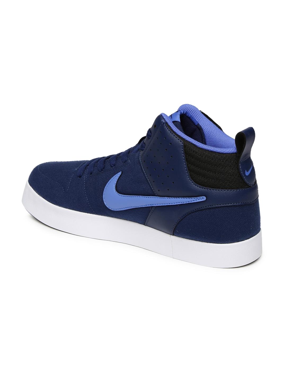 Buy Nike Men Navy Liteforce III Mid Top Sneakers - Casual Shoes for ... 084438971