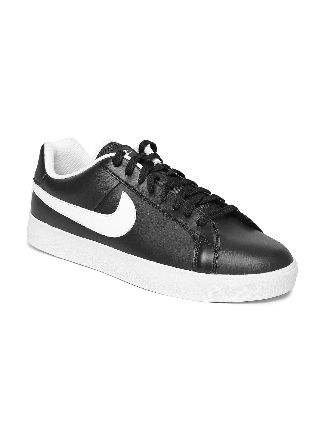 447169992d87 Buy Nike Men Black Court Royale LW Leather Sneakers - Casual Shoes ...