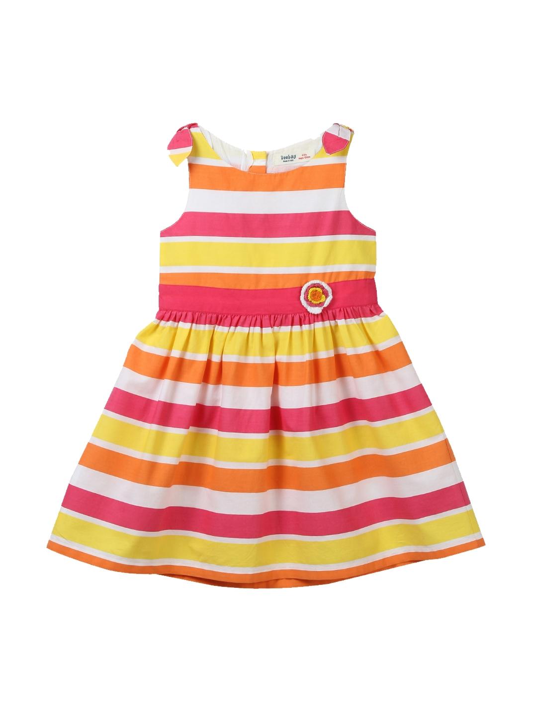 01bc588f69f Beebay Girls Multicoloured Striped A-Line Dress