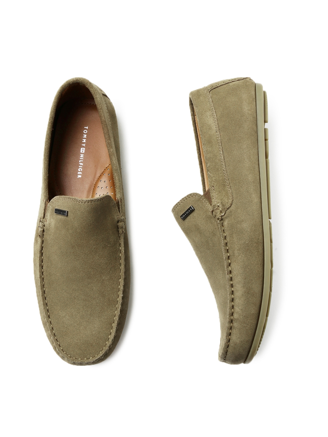 5f5236884d1d Tommy Hilfiger Men Brown Suede Loafers. This product is already at its best  price