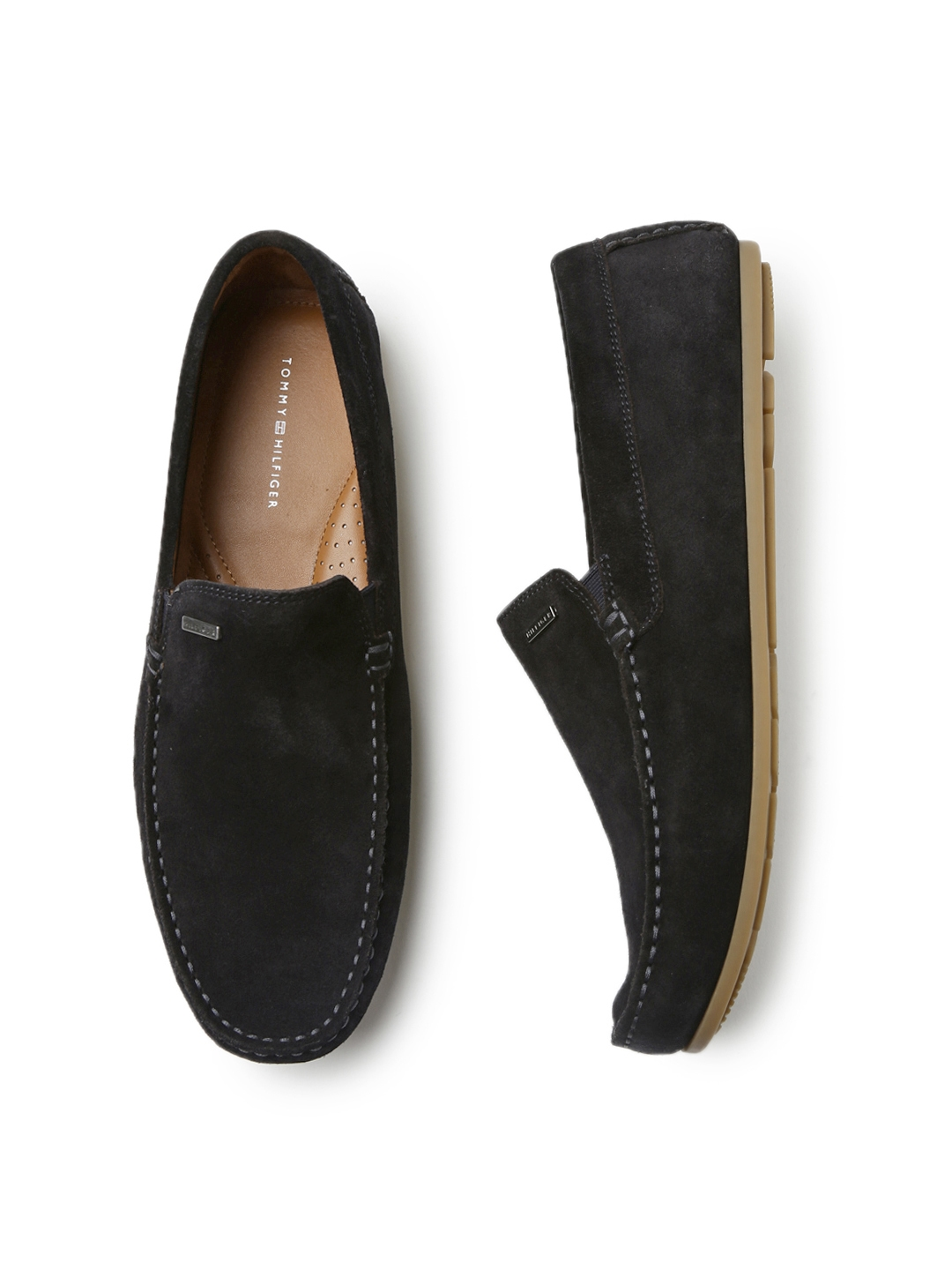 5a6195b57 Buy Tommy Hilfiger Men Black Suede Loafers - Casual Shoes for Men ...