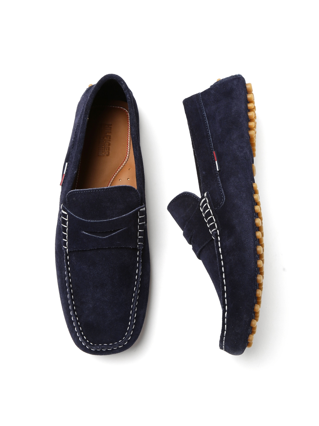 21f9a1151 Buy Tommy Hilfiger Men Navy Blue Solid Suede Driving Shoes - Casual ...
