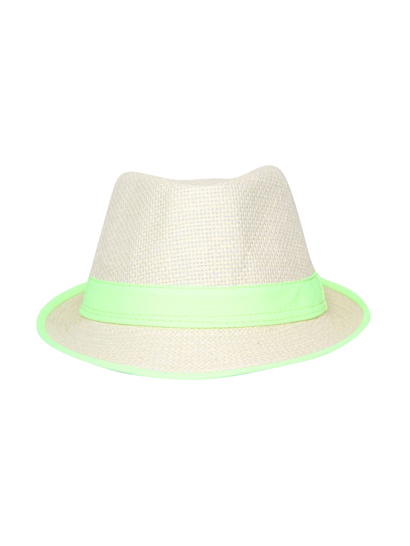 5ba2b55b0dc Buy FabSeasons Men White Basketweave Fedora Hat - Hat for Men 1724724