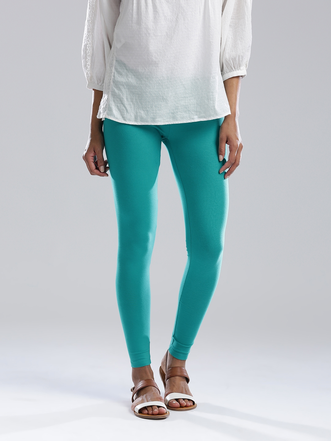 W Green Ankle Length Leggings