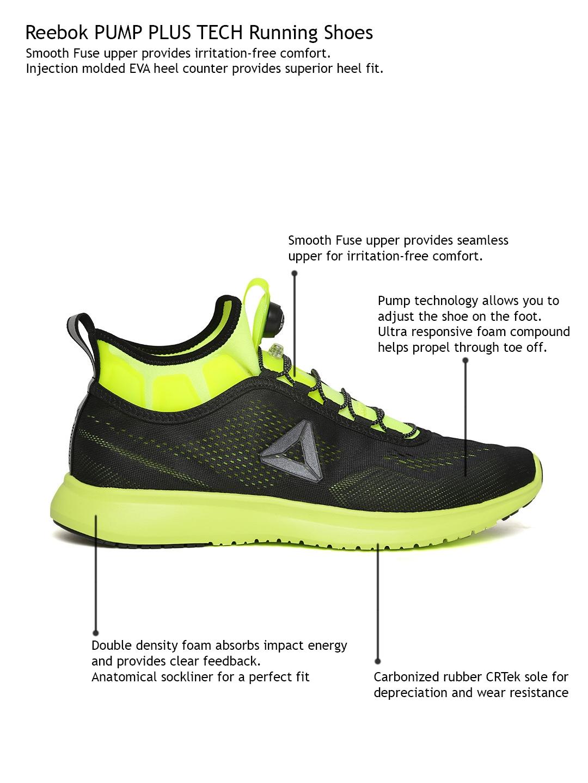 f3102301d3c1a4 Buy Reebok Men Black PUMP PLUS TECH Running Shoes - Sports Shoes for ...