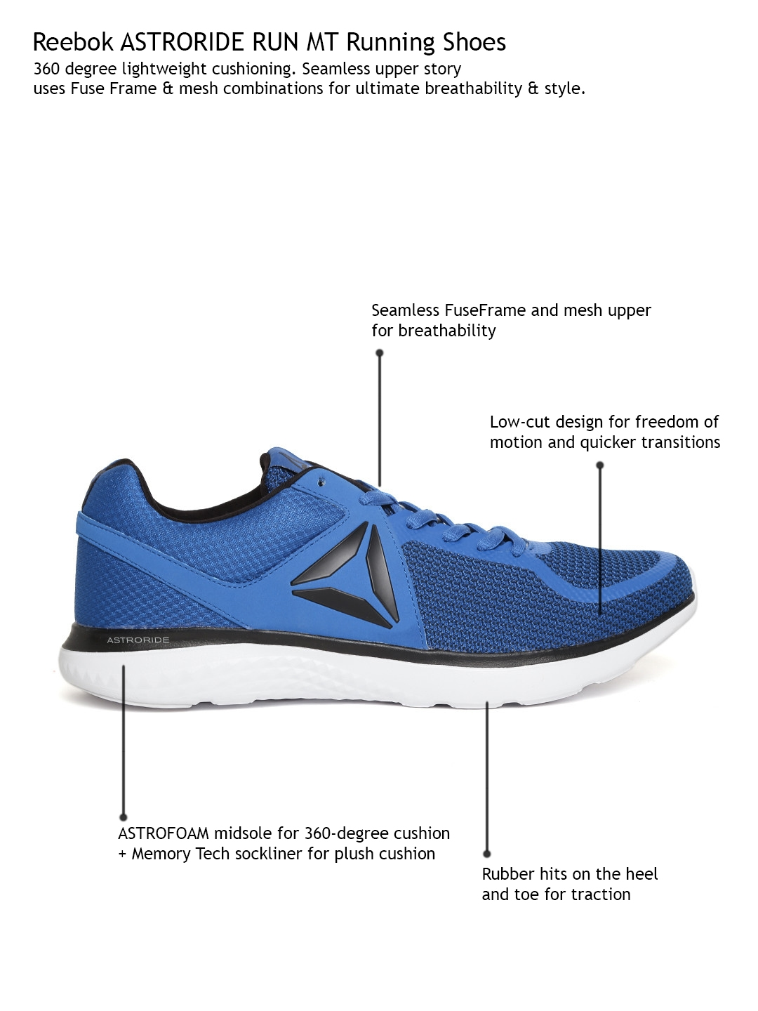8966486e230616 Buy Reebok Men Blue Astroride MT Running Shoes - Sports Shoes for ...