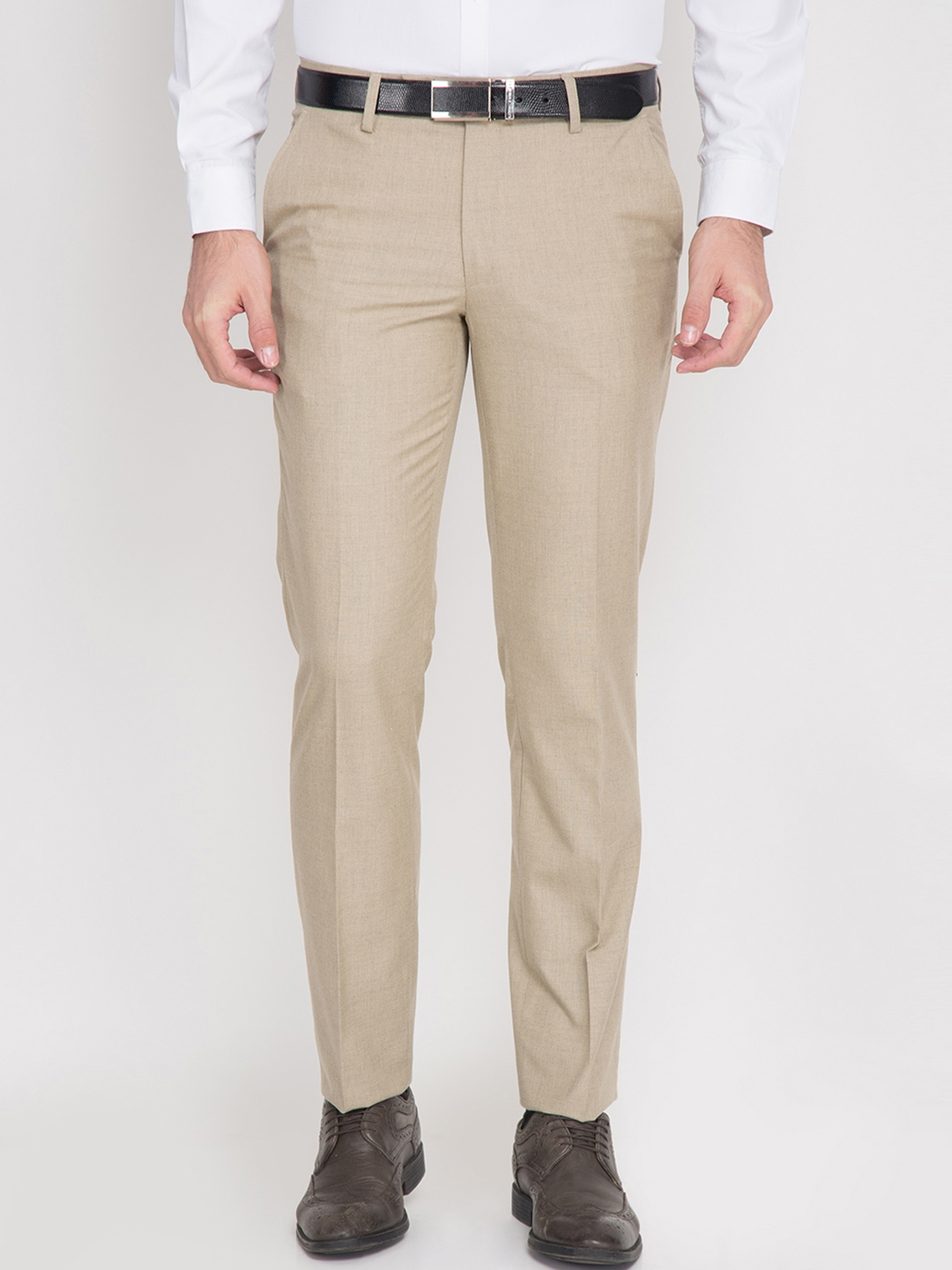 61415c39680 Buy Black Coffee Beige Formal Trousers - Trousers for Men 1728500 ...
