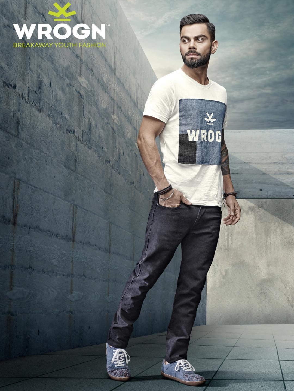 cf69f828dc Buy WROGN Men White & Blue Printed T Shirt - Tshirts for Men 1729446 |  Myntra