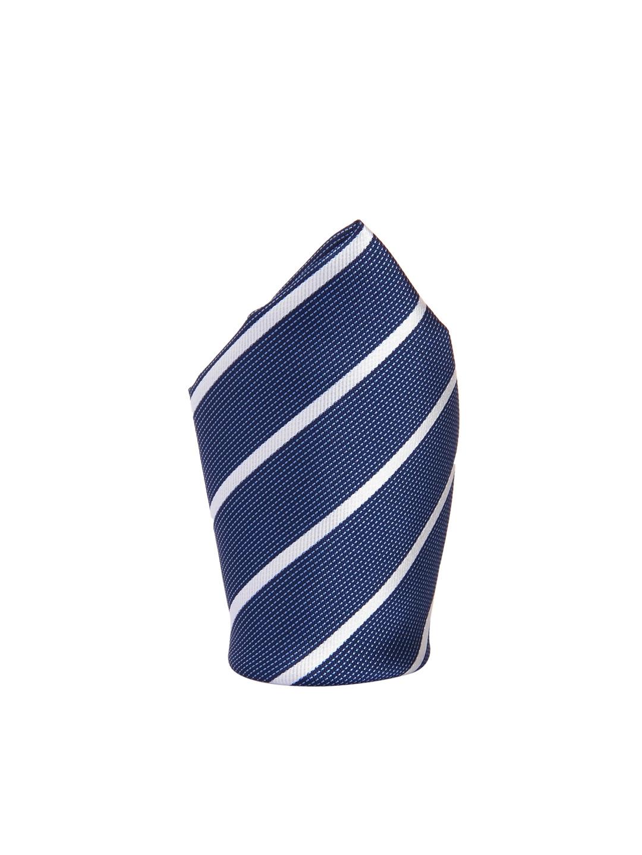 dc28cfc6ff45 Buy Tossido Navy & White Striped Pocket Square - Pocket Squares for ...