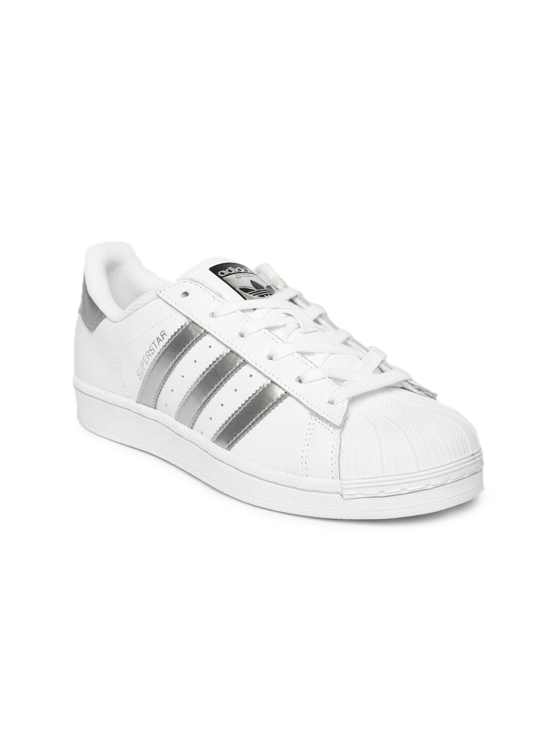 pretty nice 4d4f2 bc5e3 ADIDAS Originals Women White Superstar Leather Sneakers