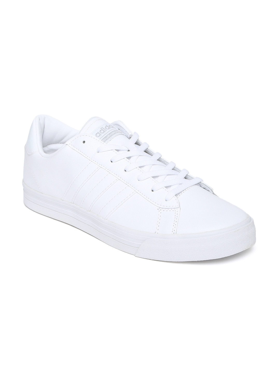 ADIDAS NEO Men White Solid Leather Cloudfoam Super Daily Sneakers 01aace3aa2