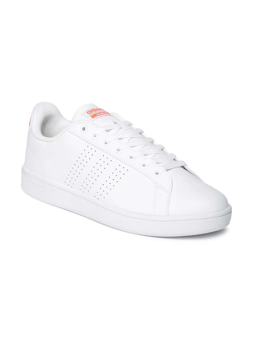 Buy ADIDAS NEO Men White Leather Cloudfoam Advantage Clean Sneakers ... 649bcd264
