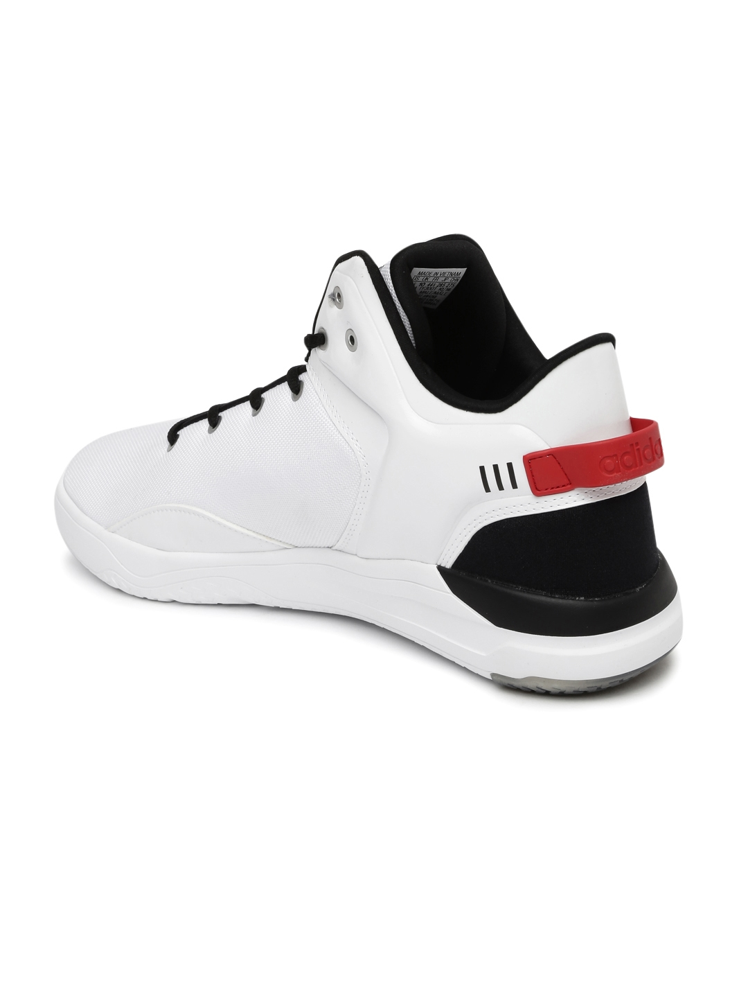 official photos df6b9 41a3e ADIDAS NEO Men White Solid Cloudfoam Revival Star War Mid-Top Sneakers
