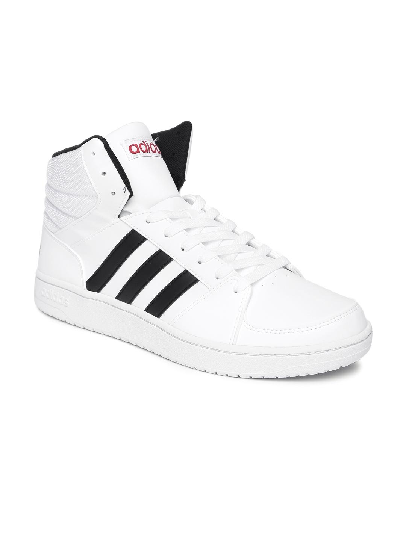 68451cd1363 Buy ADIDAS NEO Men White Vs Hoops Mid Top Sneakers - Casual Shoes ...